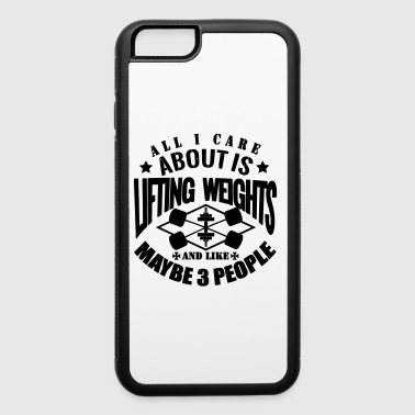 Funny Gym Lift Weights - iPhone 6/6s Rubber Case