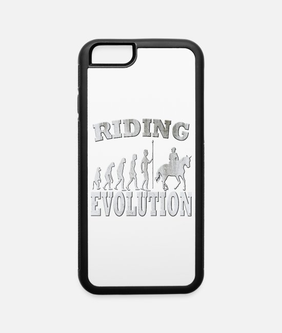 Dressage Horse iPhone Cases - Riding - iPhone 6 Case white/black