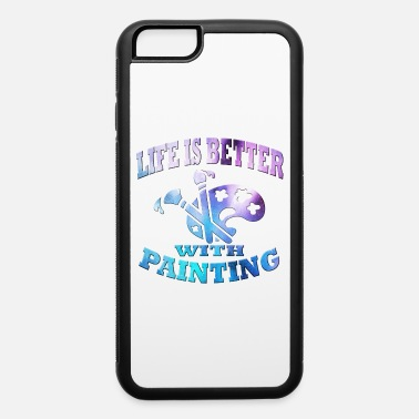 Paint Brush Painting - iPhone 6/6s Rubber Case