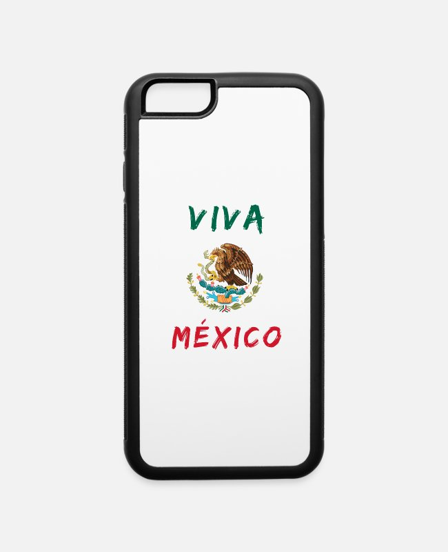South American iPhone Cases - Viva Mexico / Gift Coat of Arms Emblem Present - iPhone 6 Case white/black