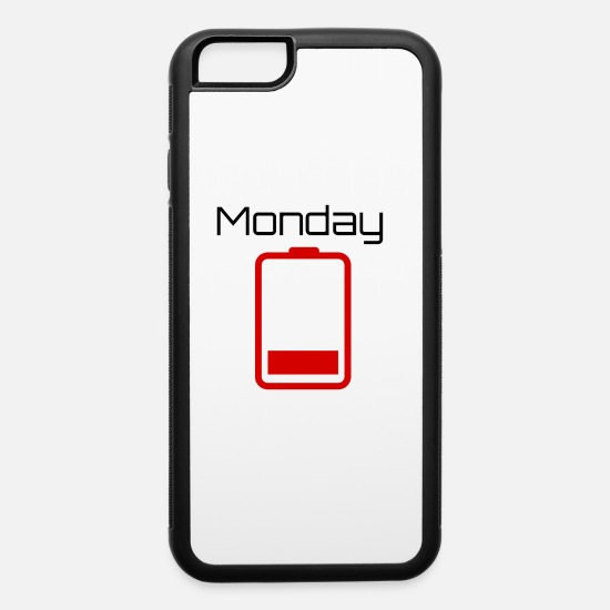 Graphic Art iPhone Cases - Mondays energy | gift idea - iPhone 6 Case white/black