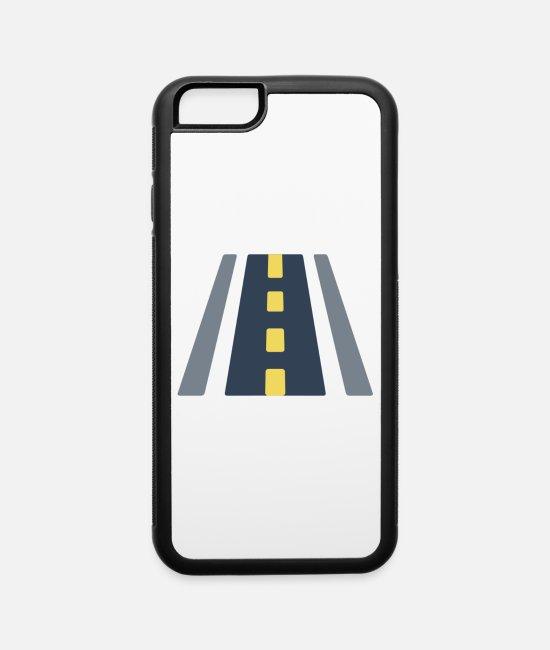 Road Bike iPhone Cases - road illustration - iPhone 6 Case white/black