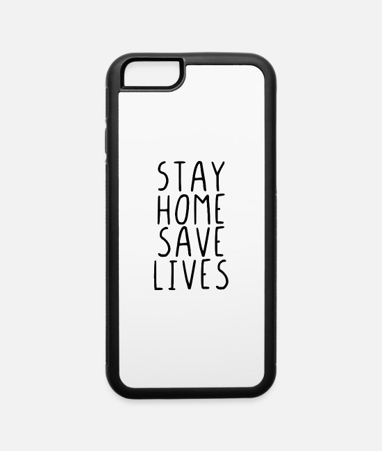Quarantäne iPhone Cases - Stay home save lives - iPhone 6 Case white/black