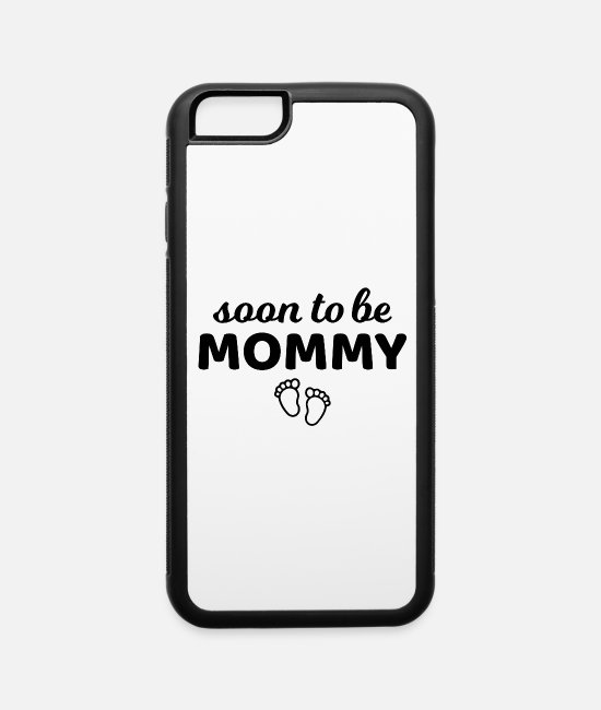 Pregnancy iPhone Cases - Expectant mother pregnant mom gift - iPhone 6 Case white/black