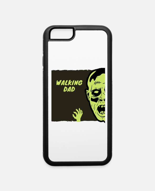 Greenman iPhone Cases - WALKING DAD Zombie green - iPhone 6 Case white/black