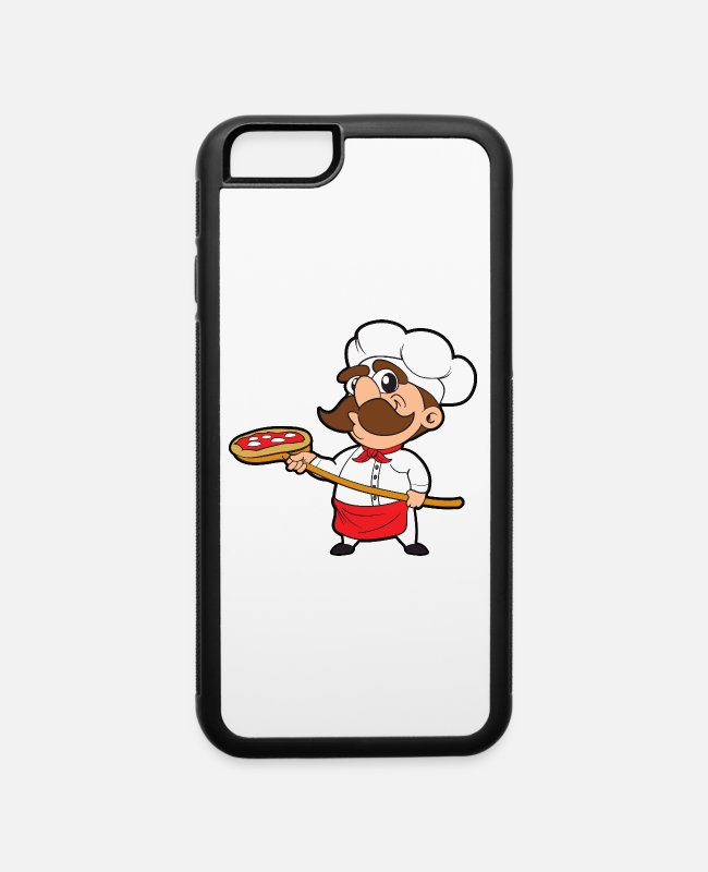 Pizza iPhone Cases - Pizza Bakery Baker Pizzeria Italy Fast Food - iPhone 6 Case white/black