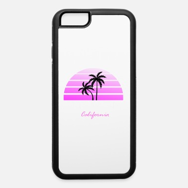 Two Santa Monica California pink / white - iPhone 6/6s Rubber Case
