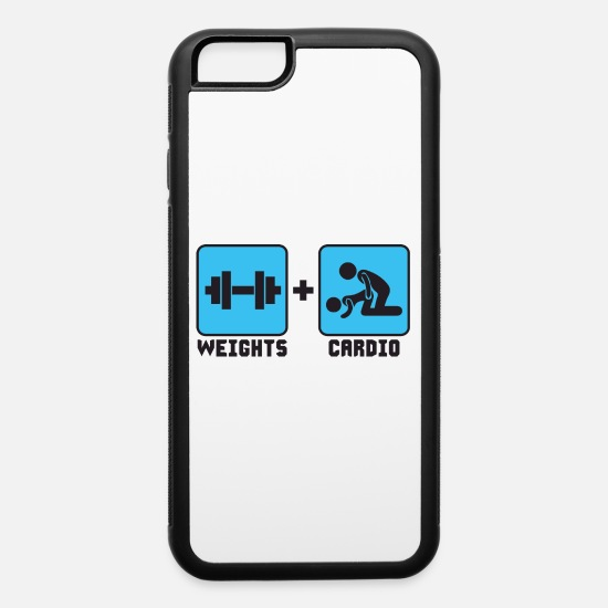 Cardio iPhone Cases - Weights and Cardio - iPhone 6 Case white/black