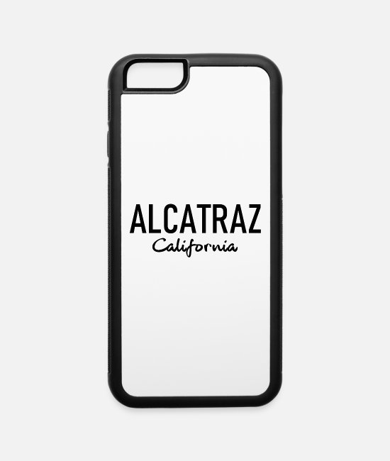Prison iPhone Cases - Alcatraz - California - The Rock - Jail - Prison - iPhone 6 Case white/black