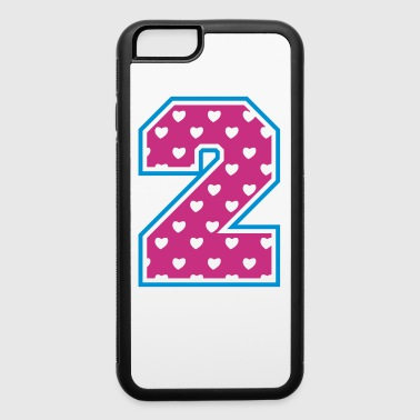 2 - Two - Number two - iPhone 6/6s Rubber Case