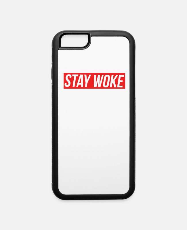 Resistance iPhone Cases - Stay Woke - iPhone 6 Case white/black