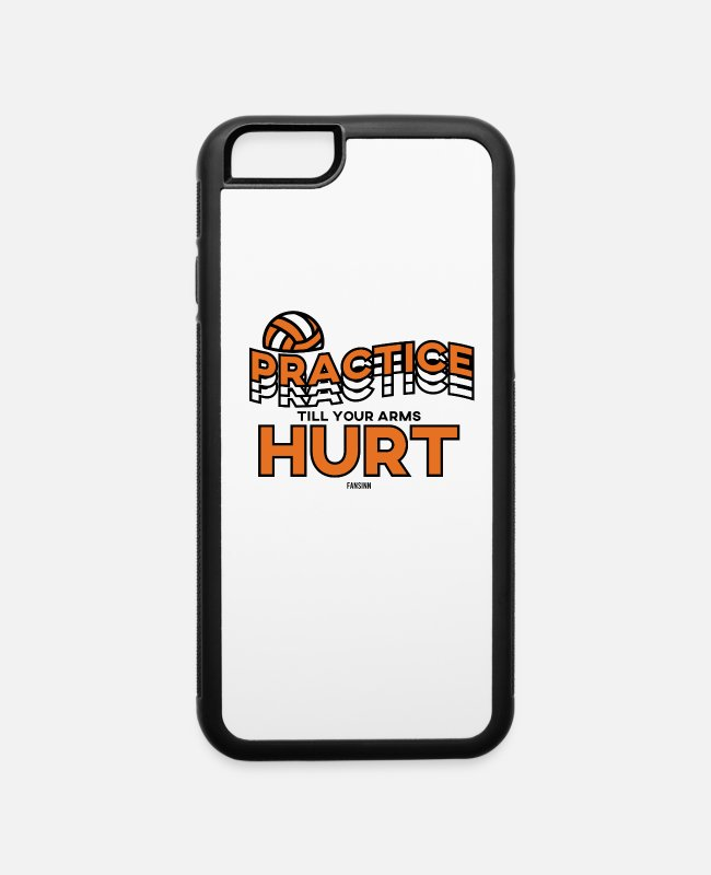 Training iPhone Cases - Volleyball saying Training Gift - iPhone 6 Case white/black