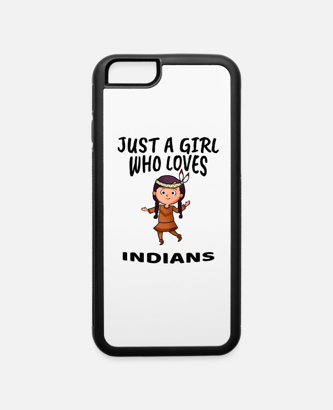 Heart iPhone Cases - Girl loves Indians - iPhone 6 Case white/black