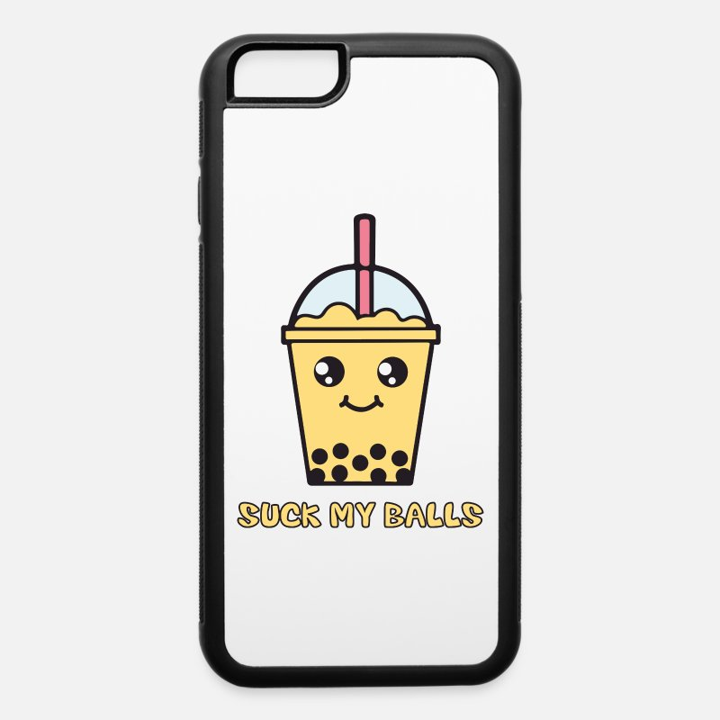 Chinese iPhone Cases - Suck My Balls (Bubble Tea) - iPhone 6 Case white/black