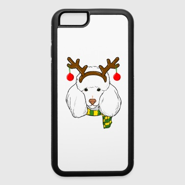 Poodle Xmas Reindeer Horns Dog Lover Christmas - iPhone 6/6s Rubber Case
