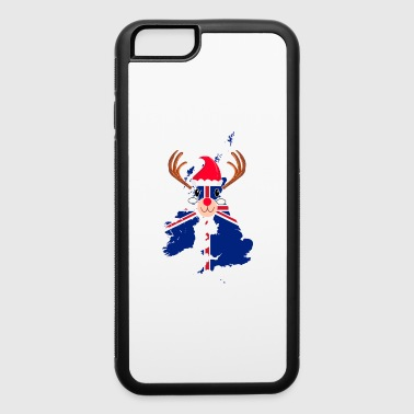 UK England Christmas Hat Antler Red Nose Reindeer - iPhone 6/6s Rubber Case