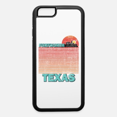 Fl Retro Fort Worth City Texas Skyline Vintage Sunset - iPhone 6 Case