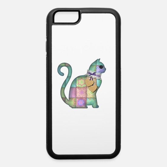 Tenderness iPhone Cases - Chado the colorful cat - iPhone 6 Case white/black