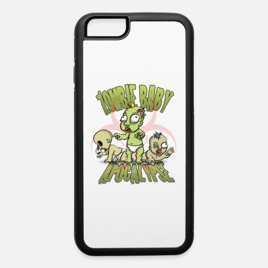 Zombie Apocalypse iPhone Cases - Zombie Baby Apocalypse - iPhone 6 Case white/black