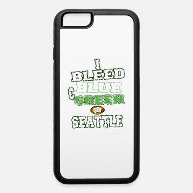 Mascot I Bleed Blue And Green Go Seattle American - iPhone 6/6s Rubber Case