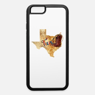 Map Texas Cowboy Map - iPhone 6 Case