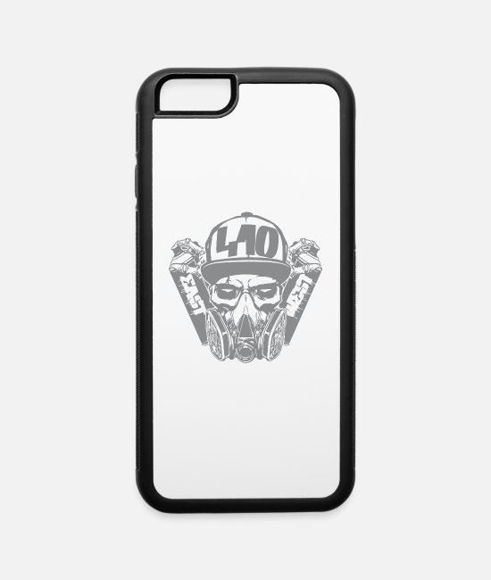 Western iPhone Cases - 410 gas mask east and west - iPhone 6 Case white/black