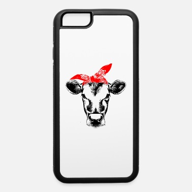 Cow Cow with bandana cute shirt for girl and women - iPhone 6 Case