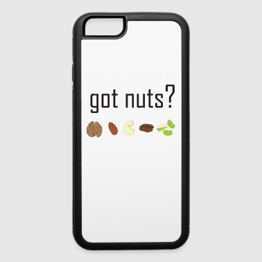 got nuts? (row of nuts) BLACK TEXT - iPhone 6/6s Rubber Case