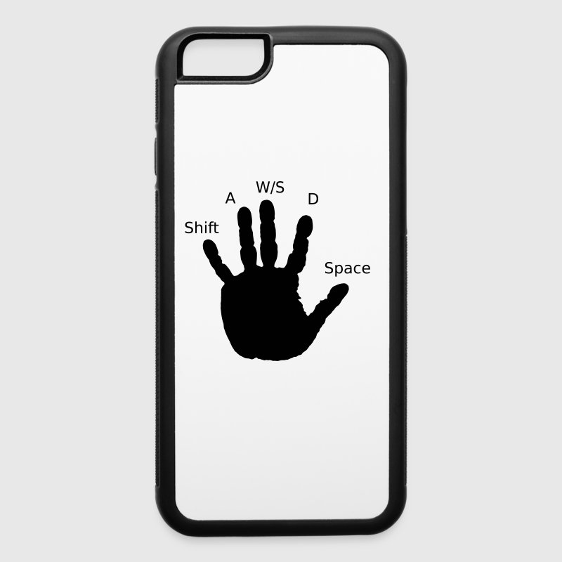 Gamer Hand, WASD - iPhone 6/6s Rubber Case