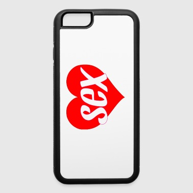 sex heart love tee gift - iPhone 6/6s Rubber Case
