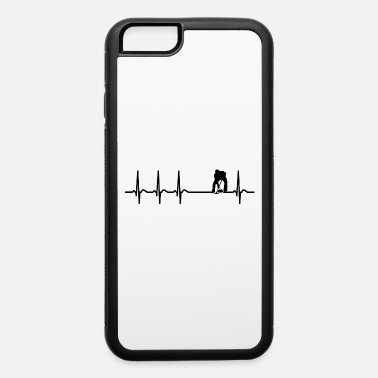 Funny Quotes Heartbeat Curling Curler Broom Quote Funny Gift - iPhone 6/6s Rubber Case