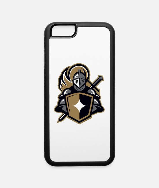 Graphic Art iPhone Cases - The iron knight - iPhone 6 Case white/black