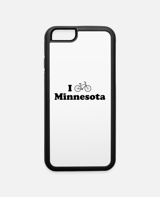 Wheel iPhone Cases - minnesota biking - iPhone 6 Case white/black