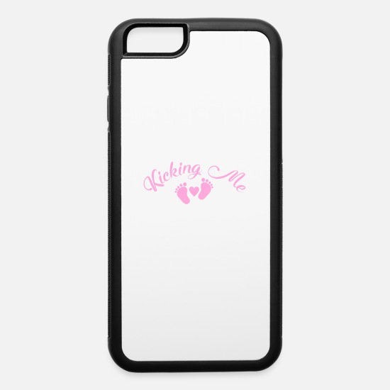 Funny iPhone Cases - Youre Kicking Me Smalls Funny Pregnancy - iPhone 6 Case white/black