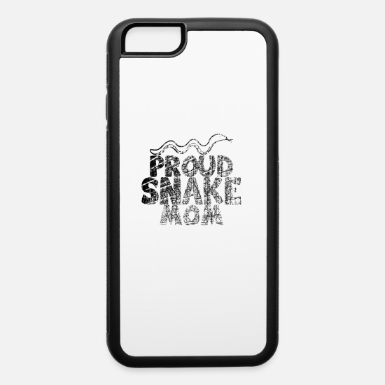 Rattlesnake iPhone Cases - proud snake mom white usedlook - iPhone 6 Case white/black