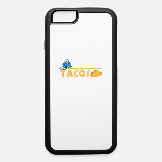 Hockey iPhone Cases - Hockey and Tacos Funny Gift - iPhone 6 Case white/black