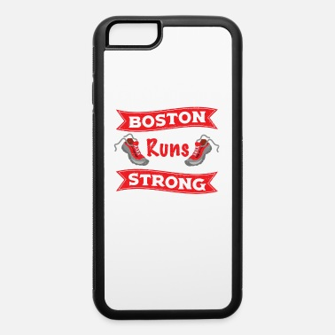 Boston Marathon Boston Runs Strong Running Marathon - iPhone 6/6s Rubber Case