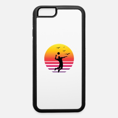 Beach Volleyball Volleyball Retro sunset beach - iPhone 6/6s Rubber Case