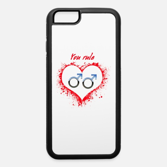 Gay Pride iPhone Cases - You rule - iPhone 6 Case white/black