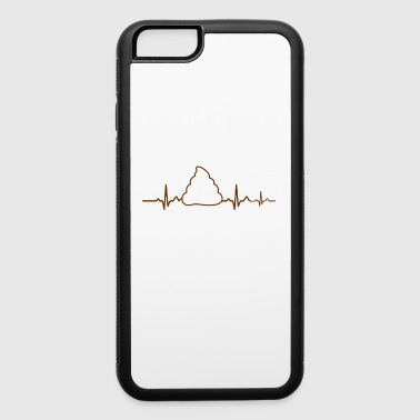 crap poop poops gift gift idea heartbeat - iPhone 6/6s Rubber Case