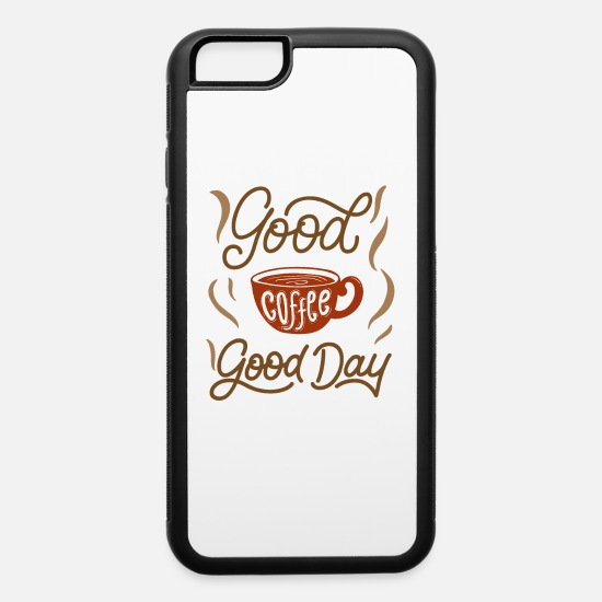 Coffee Bean iPhone Cases - good coffee good day - iPhone 6 Case white/black