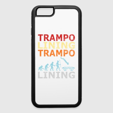 Retro Vintage Style Evolution Trampoline Jumping - iPhone 6/6s Rubber Case