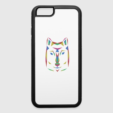 Dog's wolf colorful outlines animal gift - iPhone 6/6s Rubber Case