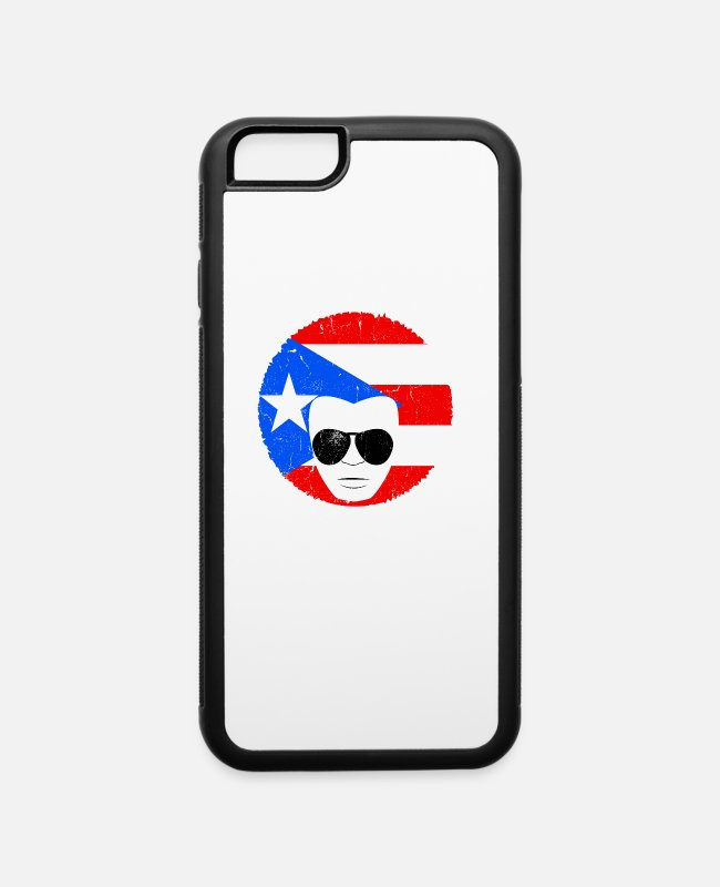 Isla Verde iPhone Cases - Mens Puerto Rico Boricua Latino Papa Fathers Day - iPhone 6 Case white/black
