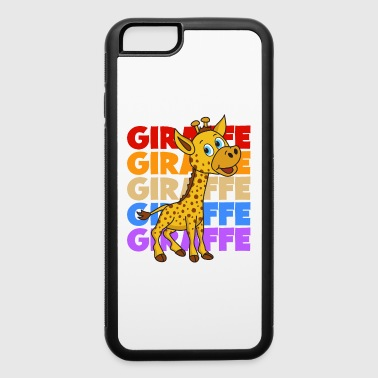 Retro Vintage Pop Art Style Giraffe Africa Safari - iPhone 6/6s Rubber Case