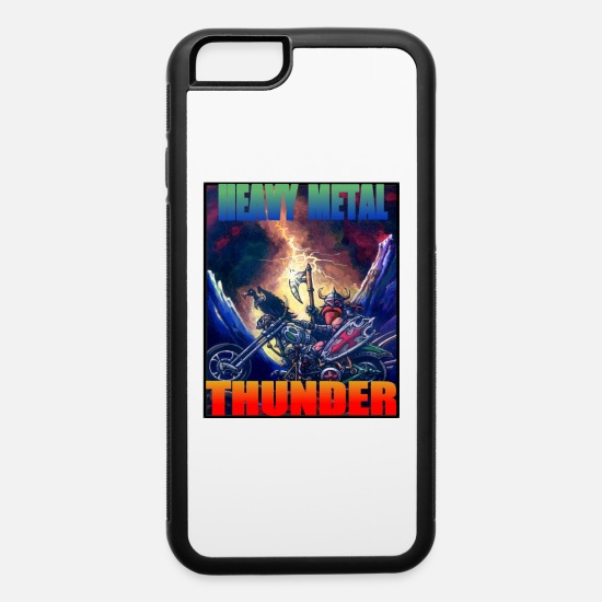 Viking iPhone Cases - HEAVY METAL THUNDER - iPhone 6 Case white/black