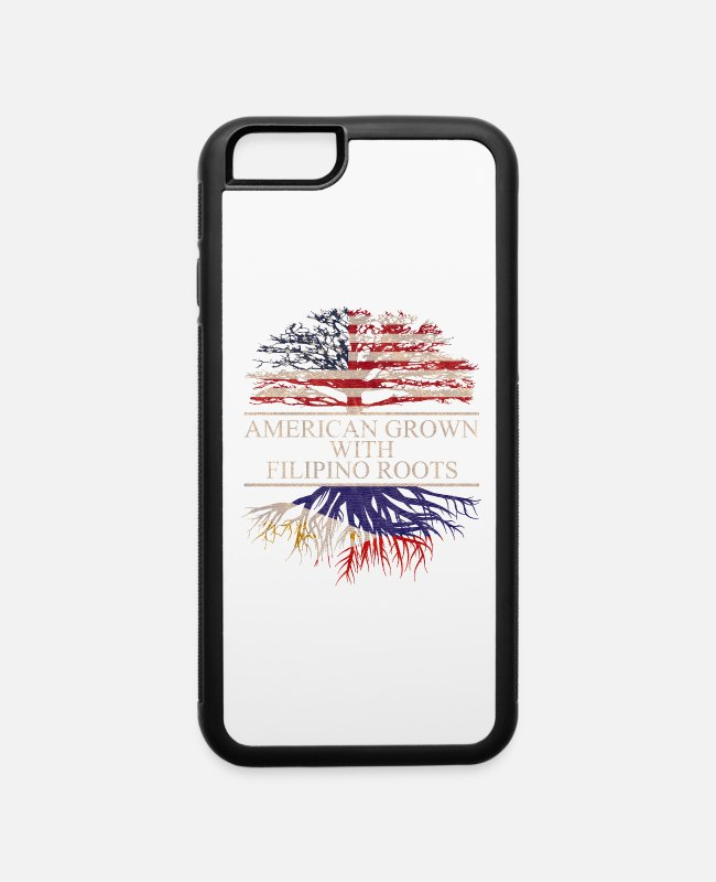 Born In Usa iPhone Cases - American grown with Filipino Roots, Philippines - iPhone 6 Case white/black