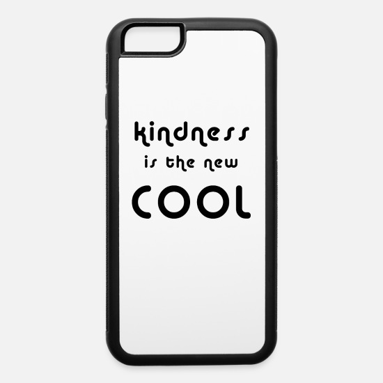 Bullying iPhone Cases - kindness is the new cool unity day t-shirt gift - iPhone 6 Case white/black