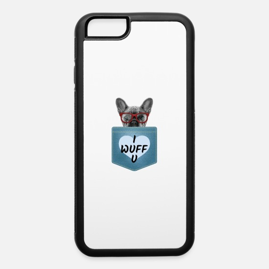 Pug iPhone Cases - I WUFF YOU - iPhone 6 Case white/black