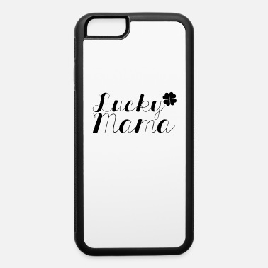 March Lucky Mama dark St. Patrick's Day Clover design - iPhone 6/6s Rubber Case